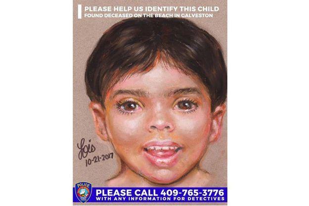 Le portrait-robot du petit garçon dont le corps a été retrouvé.