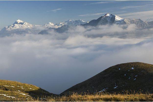 Le massif de la Vanoise et le Mont Pourri où les deux alpinistes ont trouvé la mort.