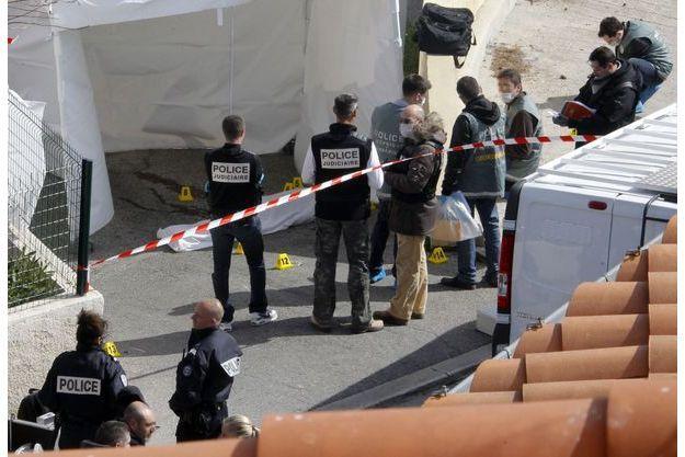 Sur une scène de crime à Marseille, en mars 2013 (Photo d'illustration)