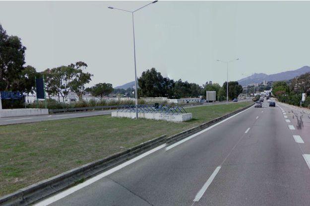 Le drame a eu lieu non loin de cette route d'Ajaccio.