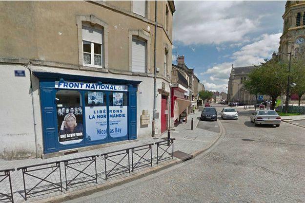 Capture d'écran Google Street View du local FN à Alençon
