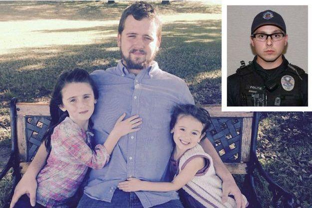 Daniel Shaver et ses deux filles, ainsi que le policier qui a mis fin à ses jours