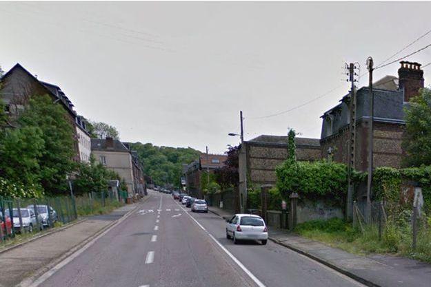 Le drame a eu lieu dans cette rue de Rouen.
