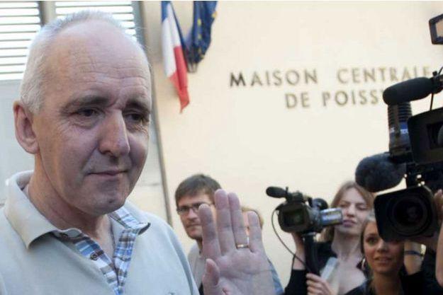 Dany Leprince à sa sortie de prison en juillet 2010.