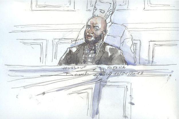 Youssouf Fofana lors de son procès mardi 10 janvier, à Paris.