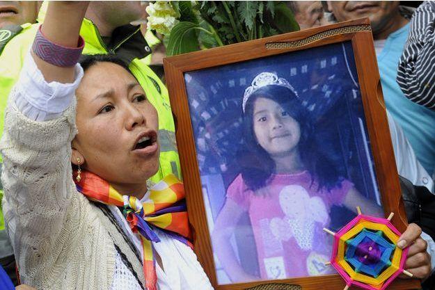 Le visage de la petite victime est devenu un symbole en Colombie.