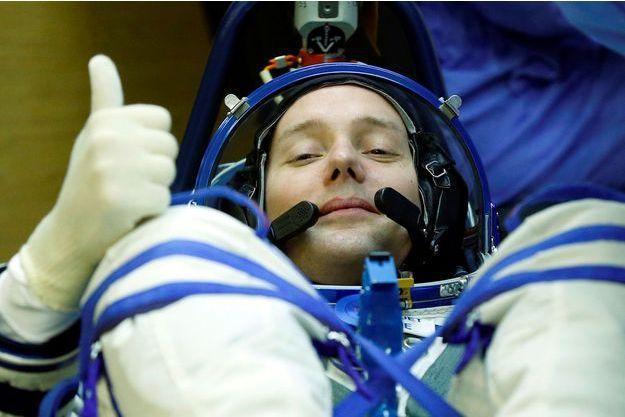 Le Français Thomas Pesquet dans sa combinaison spatiale.