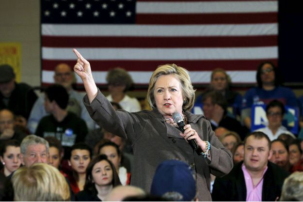 Hillary Clinton en campagne dans le New-Hampshire le 3 janvier.