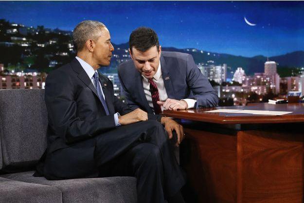 Barack Obama et Jimmy Kimmel le 12 mars sur la châine ABC