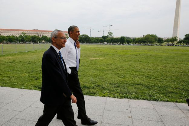John Podesta et Barack Obama en mai 2014 à Washington