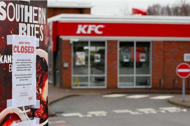 Environ 450 restaurants KFC sont fermés au Royaume-Uni, comme ici à Coalville, le 19 février 2018.