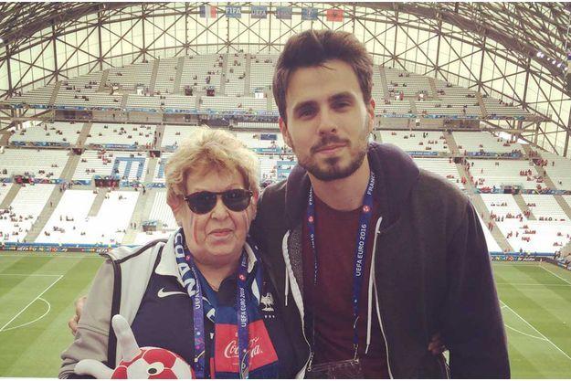 Danielle et son petit-fils Arthur