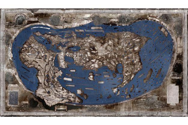 La carte de Martellus reconstituée.