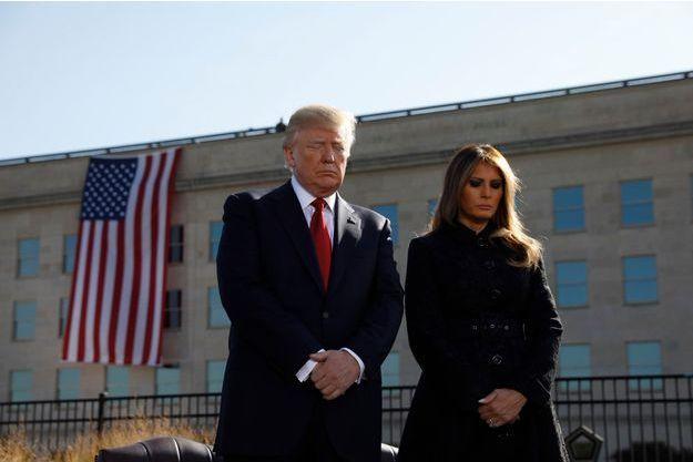 Donald et Melania Trump lors de la minute de silence du 11 septembre 2017.