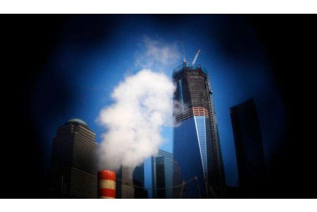 One World Trade Center en reconstruction.