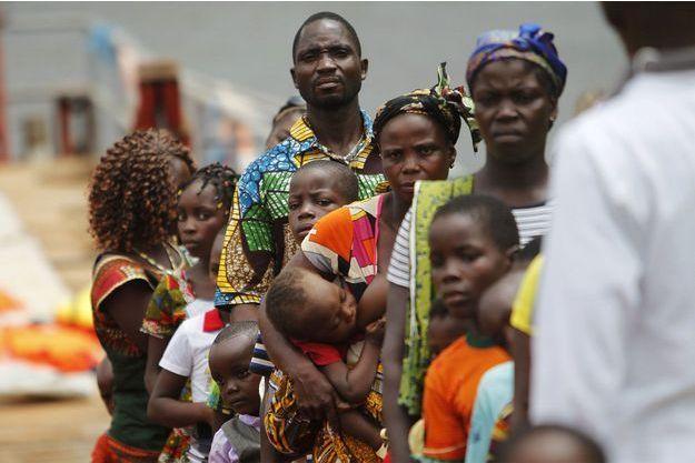 Des réfugiés ivoiriens.
