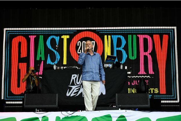 Jeremy Corbyn à Glastonbury.