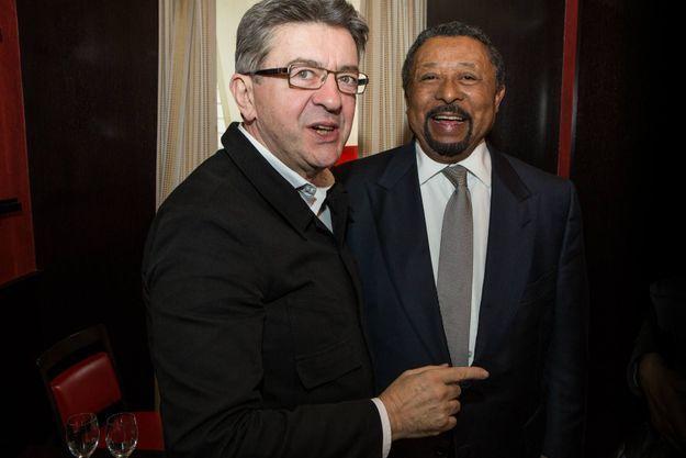 """Première rencontre entre Jean Ping et Jean-Luc Mélenchon au restaurant les """"éditeurs"""" à Saint-Germain-des-Prés à Paris, vendredi 4 novembre 2016"""