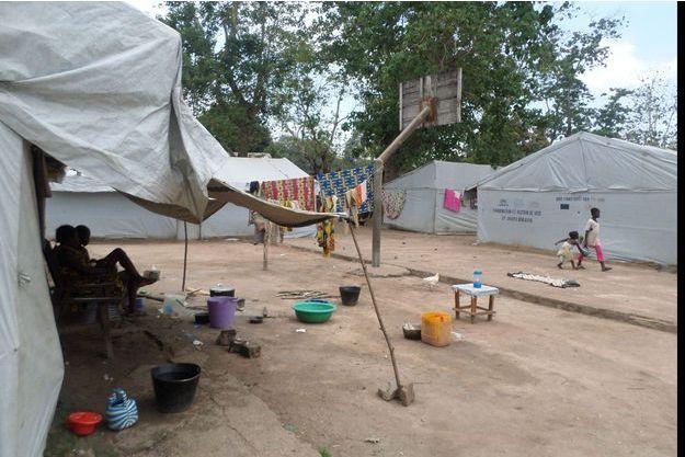 Les camps de réfugiés se sont re-remplis en RCA, comme ici à Bangui, depuis le regain de violences fin septembre.