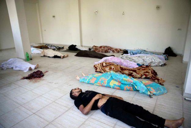 Des victimes de l'attaque du 21 août dans la Ghouta.
