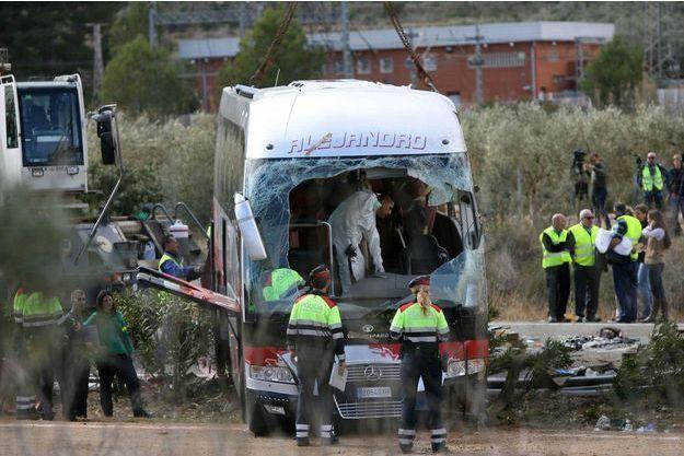 L'accident a eu lieu dimanche en Espagne