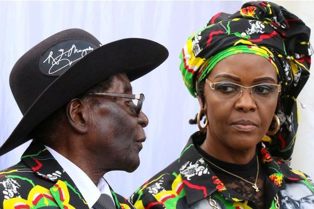 Robert et Grace Mugabe, en juillet 2017.