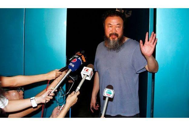 Ai Weiwei, le jour de sa libération.