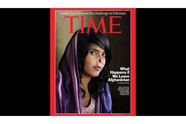 Aisha en couverture du Time, en aout 2010.