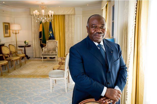 Ali Bongo, le président du Gabon, à l'hôtel George V de Paris le 14 septembre 2015.