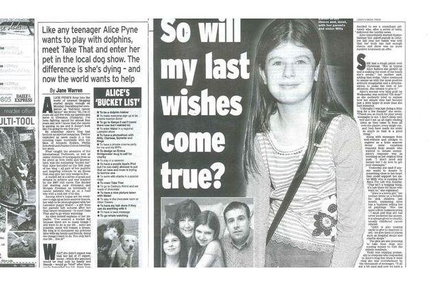 Alice Pyne fait les gros titres de la presse anglaise, ici, le «Daily Express» de ce jour.
