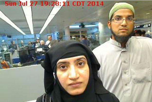 Les tueurs de Tashfeen Malik et son mari Sayed Farook.