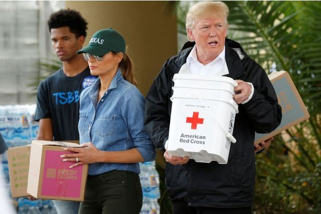 Melania et Donald Trump à Houston, au Texas, le 2 septembre 2017.