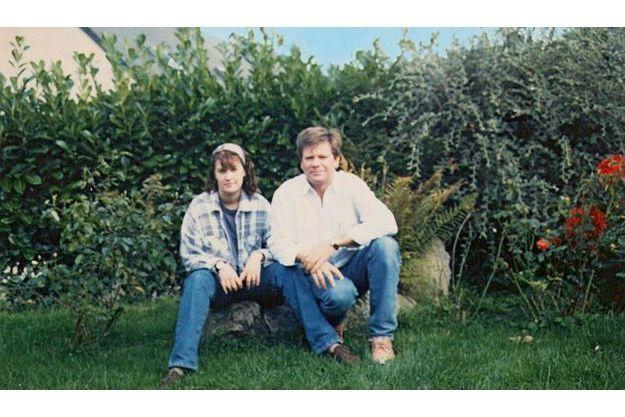 Magali Drouet et son père Claude en juin 1997.