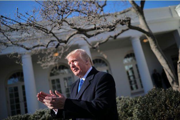 Donald Trump à la Maison-Blanche, le 19 janvier 2018.