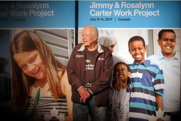 L'ancien président américain Jimmy Carter à Winnipeg, au Canada, le 14 juillet 2017.