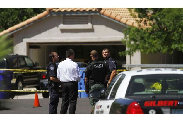 La fusillade a éclaté dans cette zone résidentielle de la banlieue de Phoenix en Arizona mercredi.