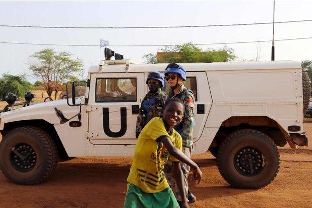 Des Casques bleus chinois à Gao au Mali.