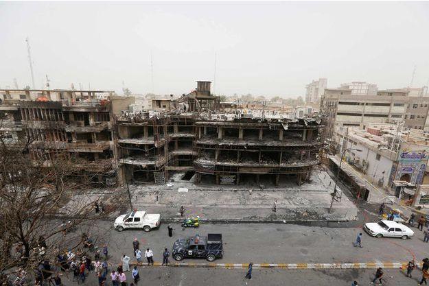 C'est ici qu'a eu lieu l'attentat qui a fait au moins 2013 morts dimanche 3 juin 2016 à Bagdad.