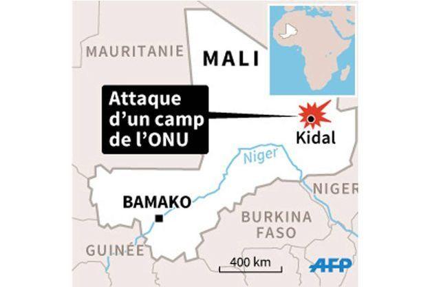 Un camp de l'ONU attaqué à Kidal au Mali.