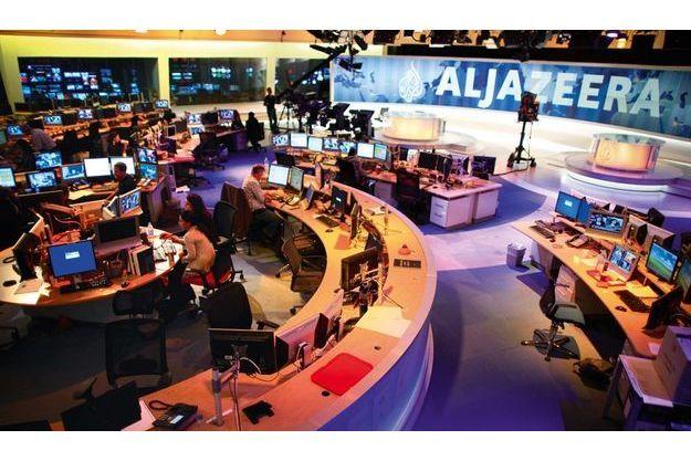 La salle de rédaction et le plateau d'Al-Jazira anglais.