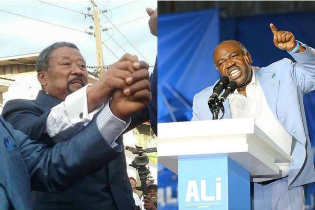 La campagne présidentielle au Gabon prend des tournures de duel entre Jean Ping (à g) et le président sortant Ali Bongo Odimba (à dte)