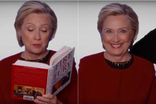 Hillary Clinton dans le sketch de l'émission de James Corden.