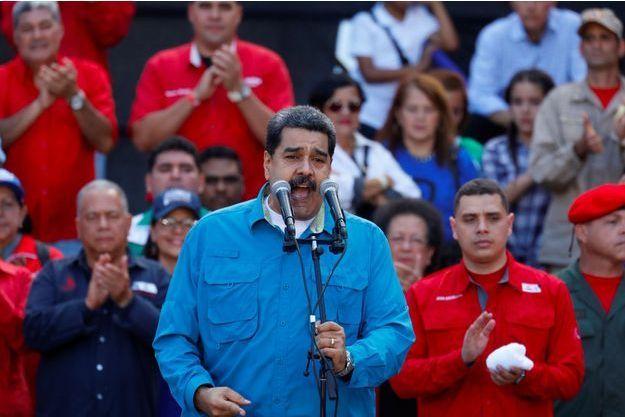 Nicolas Maduro à Caracas, le 23 janvier 2018.