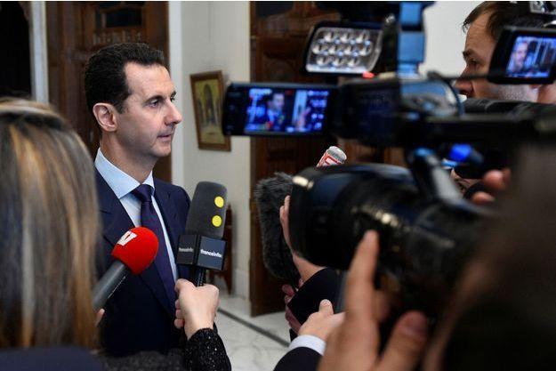 Bachar al-Assad interrogé par les médias français.
