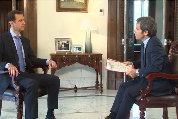 David Pujadas a interviewé Bachar El-Assad.