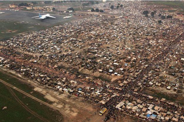 Le camp de réfugiés de l'aéroport M'Poko de Bangui, le 31 décembre dernier.