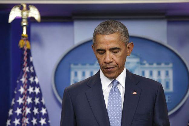 Barack Obama lors de son allocution à la Maison Blanche dimanche 17 juillet, à la suite de la fusillade.