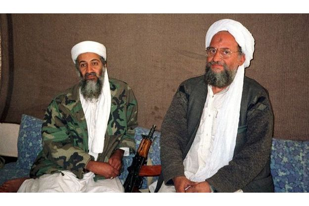 Oussama Ben Laden et Ayman Al-Zawahiri, en novembre 2001.