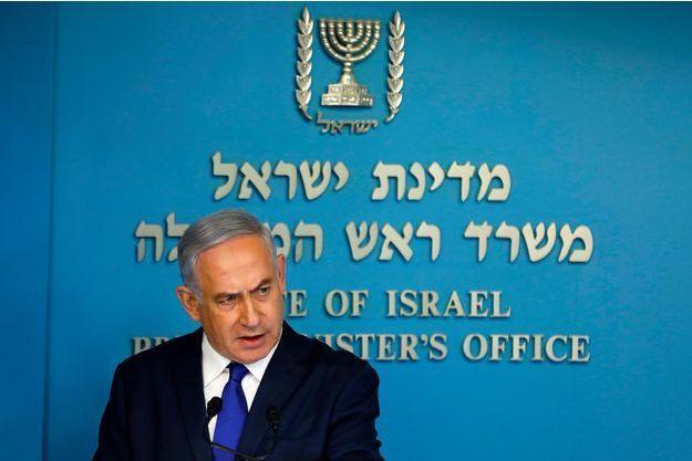 Benjamin Netanyahou à Jérusalem, le 2 avril 2018.