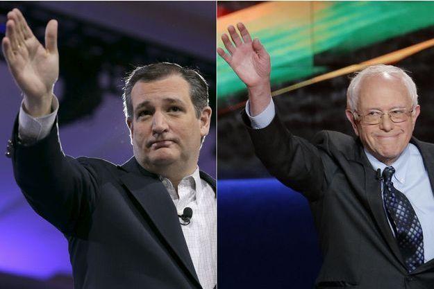 Les sénateurs Ted Cruz et Bernie Sanders.